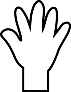 hand-clipart-black-and-white-white-hand-print-md