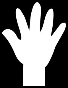 hand-clipart-black-and-white-white-hand-print-md